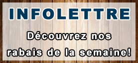 Promotions infolettre