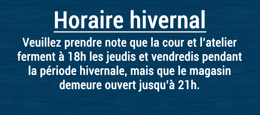 horaire hivernal