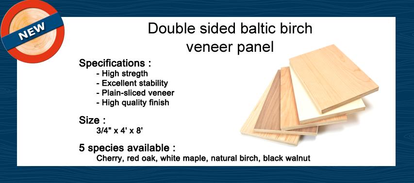New product veneer baltic birch core