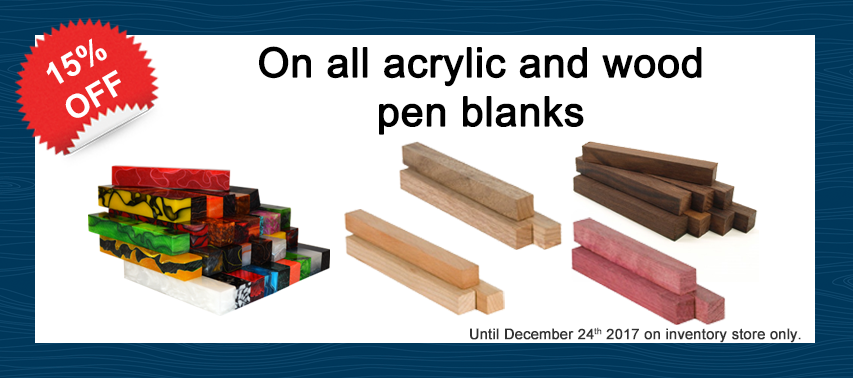 Pen blanks promo