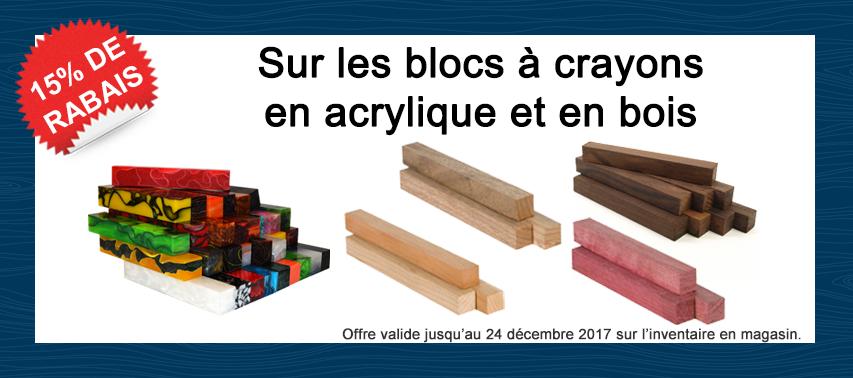 Rabais blocs à crayons