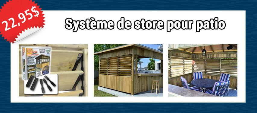 Système de store pour patio